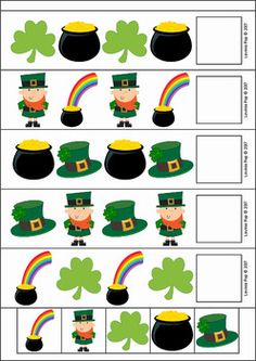Patrick's Day Preschool Centers – fitness training Preschool Centers, Preschool Themes, Preschool Science, Preschool Learning, St Patrick Day Activities, Pre K Activities, Montessori Activities, St Patricks Day Crafts For Kids, St Patrick's Day Crafts