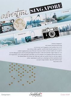 Adventure | Scrapbooking Layout von EvelynLaFleur