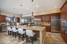 Kitchen perfect for entertaining in Rancho Santa Fe