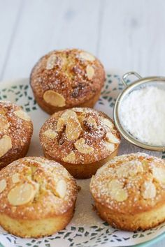 Passionfruit and white chocolate friands - Claire K Creations Sweet Recipes, Cake Recipes, Dessert Recipes, Pastries Recipes, Mini Cakes, Cupcake Cakes, Cupcakes, Mini Desserts, Delicious Desserts