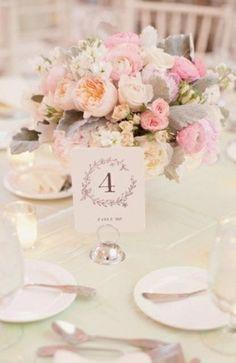 Pastel bouquet table centre piece