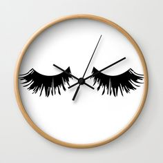 lash room decor Buy Eyelash Print Wall Clock by kisgraphics. Worldwide shipping available at Soc Eyelash Studio, Esthetics Room, Lash Quotes, Eyelash Logo, Lash Room, Lashes Logo, Beauty Lash, Best Lashes, Makeup Rooms