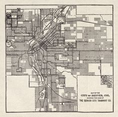 Map of denvers storied streetcar system all things denver historical map lines of the denver city tramway 1913 while we applaud the denver regional transportation districts current fastracks program malvernweather Choice Image