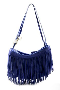 Love this!!!  Shoptiques — Fringed Suede Leather Handbag