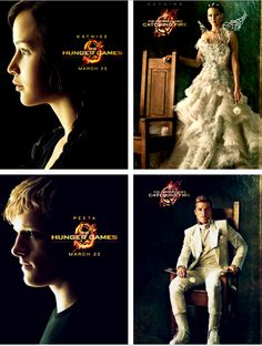 From The Hunger Games to Catching Fire. I like the Catching Fire ones better =] I can't wait to see what they do for Mockingjay!