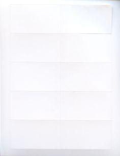 Blank White Clean-Cut Matte Coated Business Cards C2S, 2x3.5, 250/PK, 10 Pks/Case