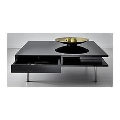 IKEA - TOFTERYD, Coffee table, high gloss black, , Separate shelf for magazines, etc. helps you keep your things organized and the table top clear.Smooth-running drawers for storing remote controls, magazines, etc.