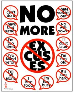 No more excuses | #coaching #quote