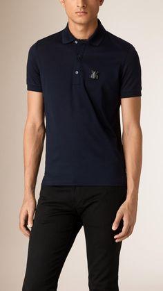 Beetle Pin Cotton Piqué Polo Shirt | Burberry