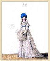 Georgian fashion period. Regency costumes. Jane Austen costume.