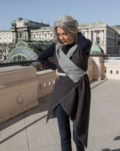 Streetstyle look with KUKLA shades of grey Which KUKLA is your favorite? Shades Of Grey, Capsule Wardrobe, Sustainable Fashion, Wrap Dress, Women Wear, Street Style, Model, How To Wear, Outfits