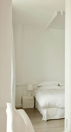 La Maison Champs Elysees, Paris. All white. See vossy.com for more of the best boutique hotels in Paris.