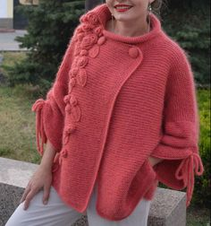 Thank you so much for visiting my store ! ****************************************************** 100% handmade for you !!!! ****************************************************** WOMENknitting cardigan dimensions : SIZE XS: Bust 76-84cm(30-33in),Waist 61-63cm(24-25in), Height 60cm(23.6in), SIZE S: Bust 84-89cm(33-35in),Waist 63-68cm(25-27in), Height 60cm(23.6in ) SIZE M: Bust 89-94cm(35-37in),Waist 71-76cm(28-30in), Height 65cm(25.6in), SIZE L: Bust 96-101cm(38-40in),Waist 79-84cm(31-33in)…
