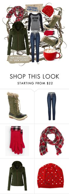 """""""Freaking Cold"""" by sabrepinkt ❤ liked on Polyvore featuring SOREL, Flore, Talbots, Look by M, LE3NO, N°21 and puffers"""