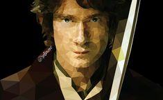 Hobbit Bilbo Baggins polygon drawing Ring Sting