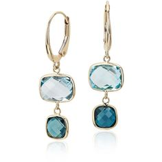 Blue Nile Blue Topaz Ombre Drop Leverback Earrings ($395) ❤ liked on Polyvore featuring jewelry, earrings, blue earrings, 14k earrings, 14 karat gold jewelry, graduation gifts jewelry and graduation jewelry