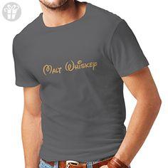 N4088 Malt Whiskey funny gift t-shirt (M, Grey Gold) - Birthday shirts (*Amazon Partner-Link)