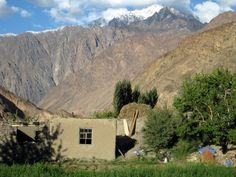 A house in Basid, a village in the Bartang Valley, The Pamirs, Tajikistan