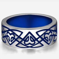 (Processing Time: 30 Working Days)Charming Celtic Pattern 925 Sterling Silver Women And Men's Wide Ring