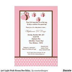 Triplet Baby Showers Invitations