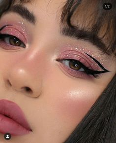 Cute Makeup Looks, Makeup Eye Looks, Eye Makeup Art, Glam Makeup, Pretty Makeup, Makeup Inspo, Eyeshadow Makeup, Makeup Inspiration, Face Makeup