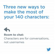 """Tweet counts toward your 140 characters, will no longer """"use up"""" valuable characters like photos, GIFs, videos, and polls. #twitterupdate #tweetcount https://blog.twitter.com/express-even-more-in-140-characters"""