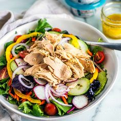 Classic Tuna Salad | Chicken of the Sea Classic Tuna Salad Recipe, All Recipes Chicken, Easy Beef And Broccoli, Sweet Bell Peppers, Dinner Salads, Healthy Salads, Original Recipe, Salad Recipes, Salad Chicken
