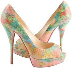 Get the must-have platforms of this season! These Christian Louboutin Multicolor Python Pixel Troca 140 Pumps Platforms Size US 8 Regular (M, B) are a top 10 member favorite on Tradesy. Louboutin Shoes Women, Christian Louboutin Black Pumps, Red Louboutin, Satin Pumps, Pumps Heels, Dior Eyeglasses, Peep Toe Mules, Awesome Shoes, Totally Awesome