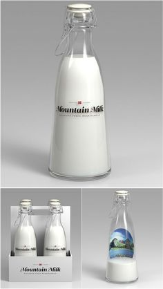 Beautiful milk packaging concept by Anders Drage / Norway