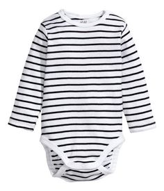 Striped Long Sleeve Bodysuit ($6.95 at H&M)