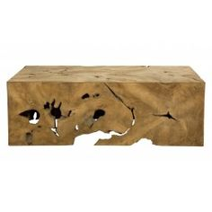 """Our Milo Teak Collection is hand crafted from painstakingly harvested teak root in Indonesia.  It is sliced and formed into a modern square shape. Javanese artisans then carve root """"puzzle pieces"""" to insert in the negative spaces to create a perfect fit. The Milo Coffee Table can be used not only as a coffee table, but as a console as well, when turned on its long side.    •47""""W x 31.5""""D x 15.75""""H as a coffee table  •47""""W x 15.75""""D x 31.5""""H as a console  •hand crafted in Indonesia  ..."""