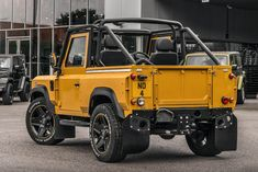 Say Hello To The Badass Land Rover Defender 'Honey Mustard' Pickup Jeep Rubicon, Jeep 4x4, Jeep Truck, Land Rover Defender Pickup, Defender Td5, Custom Bmw, 1959 Cadillac, Toyota Fj Cruiser, Land Rover Discovery
