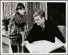 """Elizabeth Ashley as Corie Bratter and Robert Redford as Paul Bratter in """"Barefoot in the Park"""". Date: 1963"""