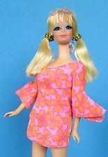 Vintage MOD 1971 TALKING PJ Barbie Doll in her ORIGINAL Outfit & SHE TALKS !!