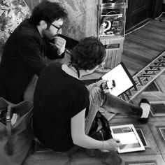 Young journalists working