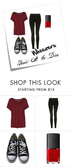 """""""Concert"""" by heysoulsistr ❤ liked on Polyvore featuring Post-It, Topshop, Converse and NARS Cosmetics"""