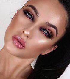 Pin by Cat Kondratski on Make up in 2019 Matte Makeup, Airbrush Makeup, Glam Makeup, Bridal Makeup, Wedding Makeup, Makeup Tips, Beauty Makeup, Hair Makeup, Beauty Nails