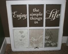 old window craft | Crafts to make from old windows by Rach86 on Indulgy.com