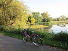 Old bike by the lake