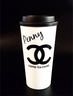 "4-6 WEEKS  THE ""COFFEE.TEA.CHANEL"" TRAVEL MUG  Tell us your name and we will add it to your tumbler!! A Chic and Fun way to have your morning coffee or tea on the GO!! Customize with your own name, just like the famous coffee houses.  The double-wall tumbler keeps your favorite drinks fre..."