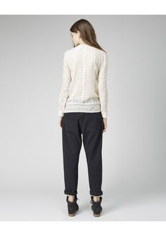 Isabel Marant Tess Embroidered Top | La Garçonne