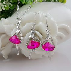 Austria Crystal Fantasy Ballet Girl Necklace & Earrings SetItem Type: Jewelry SetsIncluded Additional Item Description: Necklace and EarringsStyle: Romantic
