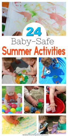 FUN!! Keep baby cool this summer with these easy play ideas! The best baby activities to beat the heat, with water and sensory play both indoors and outdoors!