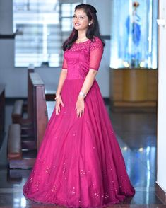 WhatsApp on 9496803123 to customise your handcrafted bridal attire Kerala Engagement Dress, Engagement Dress For Bride, Engagement Gowns, Indian Fashion Dresses, Indian Gowns Dresses, Dress Indian Style, Fashion Outfits, Party Wear Maxi Dresses, Gown Party Wear