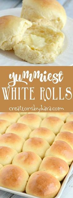 This has been a favorite dinner roll recipe for years! You will get rave reviews if you serve these yummy white rolls! The best soft and flavorful roll recipe. -from creationsbykara.com
