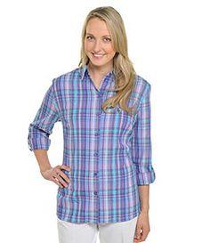 Allison Daley II Plaid Roll-Tab Shirt