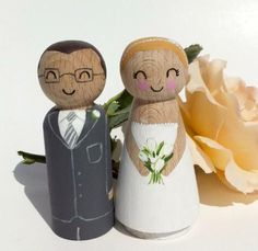 personalised wooden cake toppers