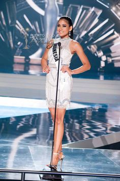 MISS UNIVERSE 2015 :: PRELIMINARY COMPETITION OPENING | Anindya Kusuma Putri, Miss Universe Indonesia 2015, on stage in fashion by Sherri Hill and footwear by Chinese Laundry during the opening of The 2015 MISS UNIVERSE® Preliminary Show at Planet Hollywood Resort & Casino Wednesday, December 16, 2015. #MissUniverse2015 #MissUniverso2015 #MissIndonesia #AnindyaKusumaPutri #PreliminaryCompetition #Opening #LasVegas #Nevada