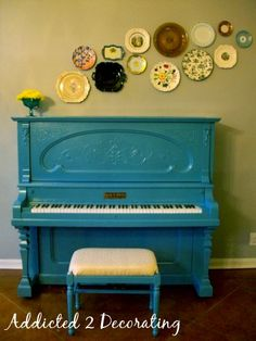 Painted piano... Not sure I'd have the guts to do this, but kind of love it!