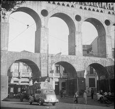 Brasilien: Alt-Rio, Os Arcos (alte Wasserleitung, jetzt Tramviadukt). Dia_282-6613